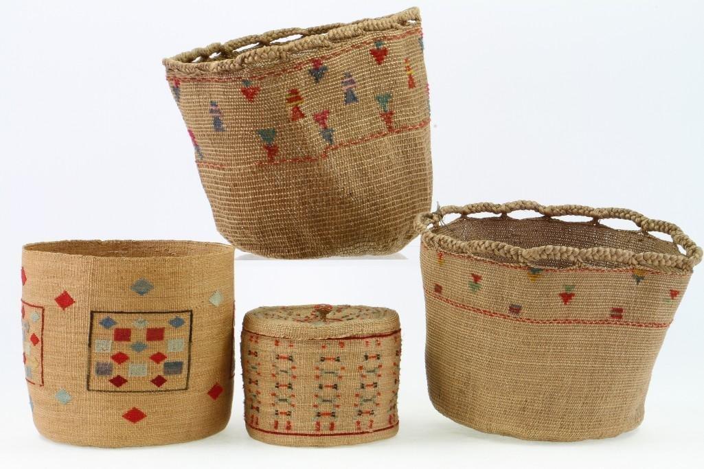 Four Attu baskets - 5
