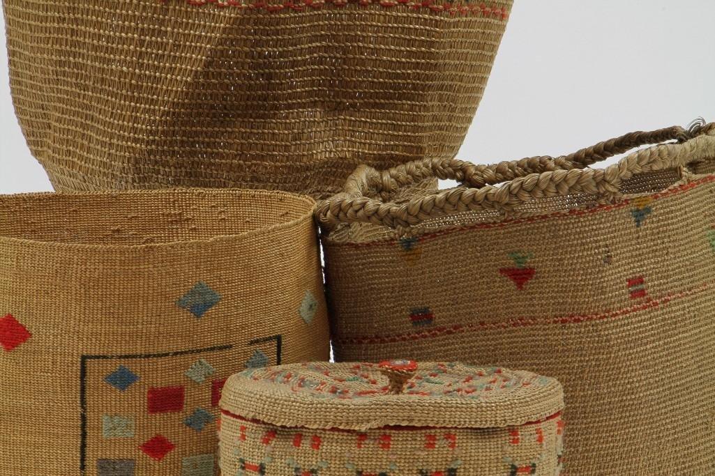 Four Attu baskets - 7