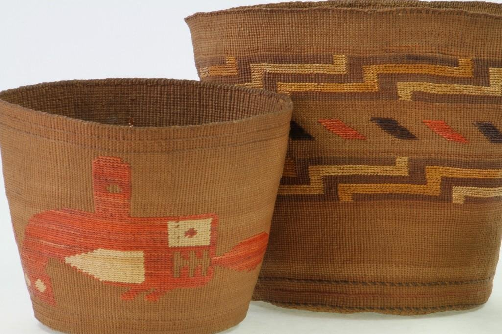 Three Northwest polychrome baskets - 4