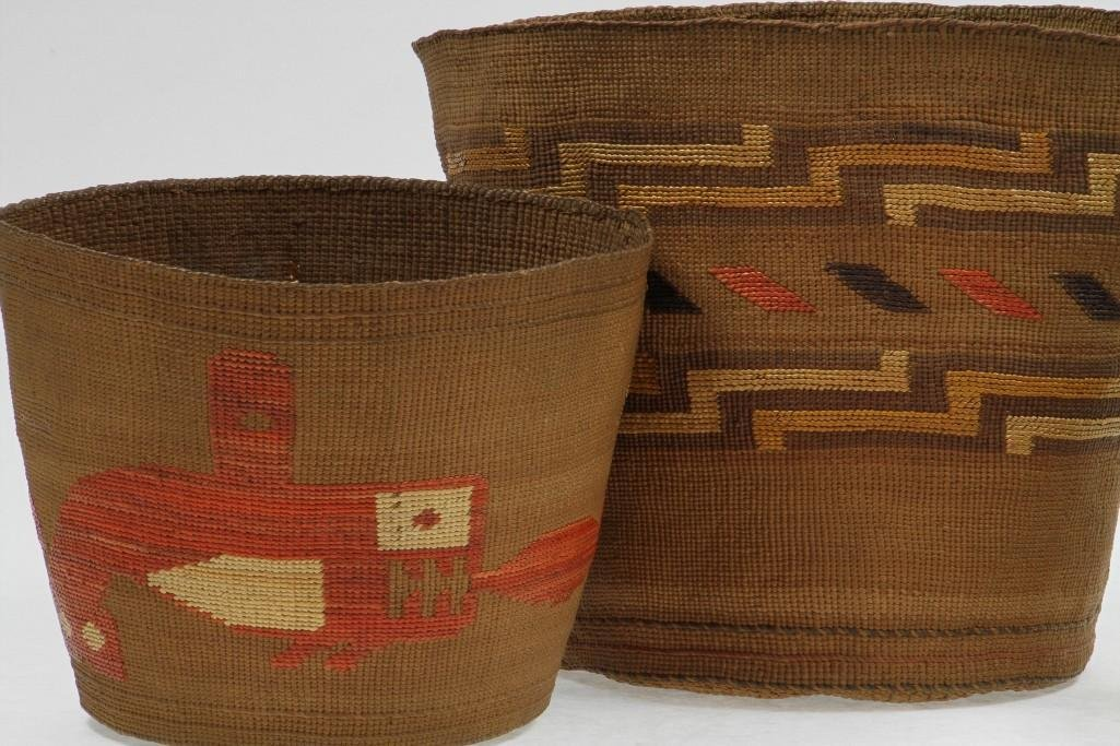 Three Northwest polychrome baskets - 5
