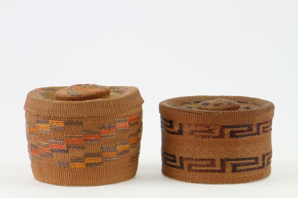 Two Tlingit lidded baskets - 2