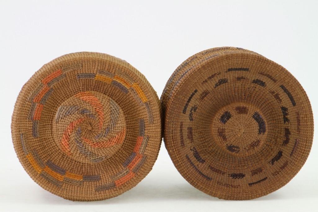 Two Tlingit lidded baskets - 4