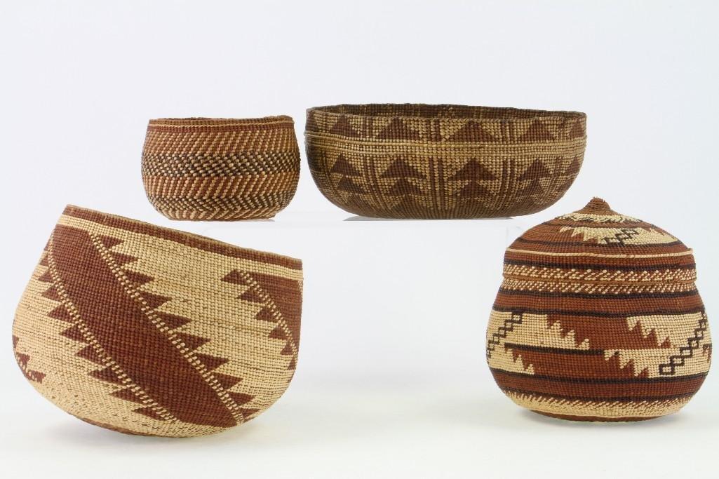 Four Northwest California baskets