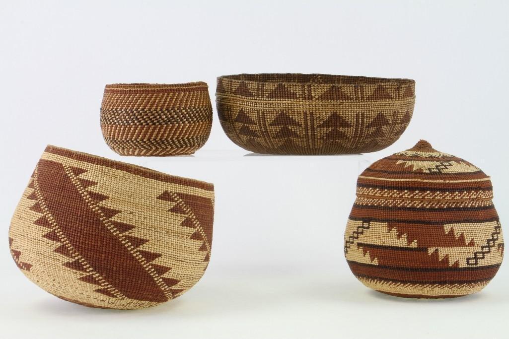 Four Northwest California baskets - 2