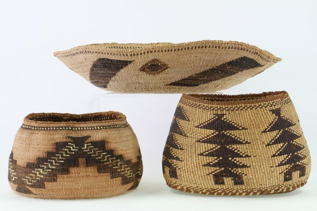 Three Northeast California baskets - 2