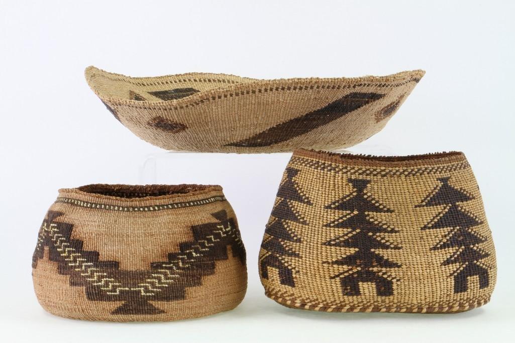 Three Northeast California baskets - 3