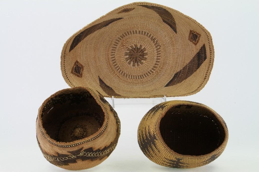 Three Northeast California baskets - 6