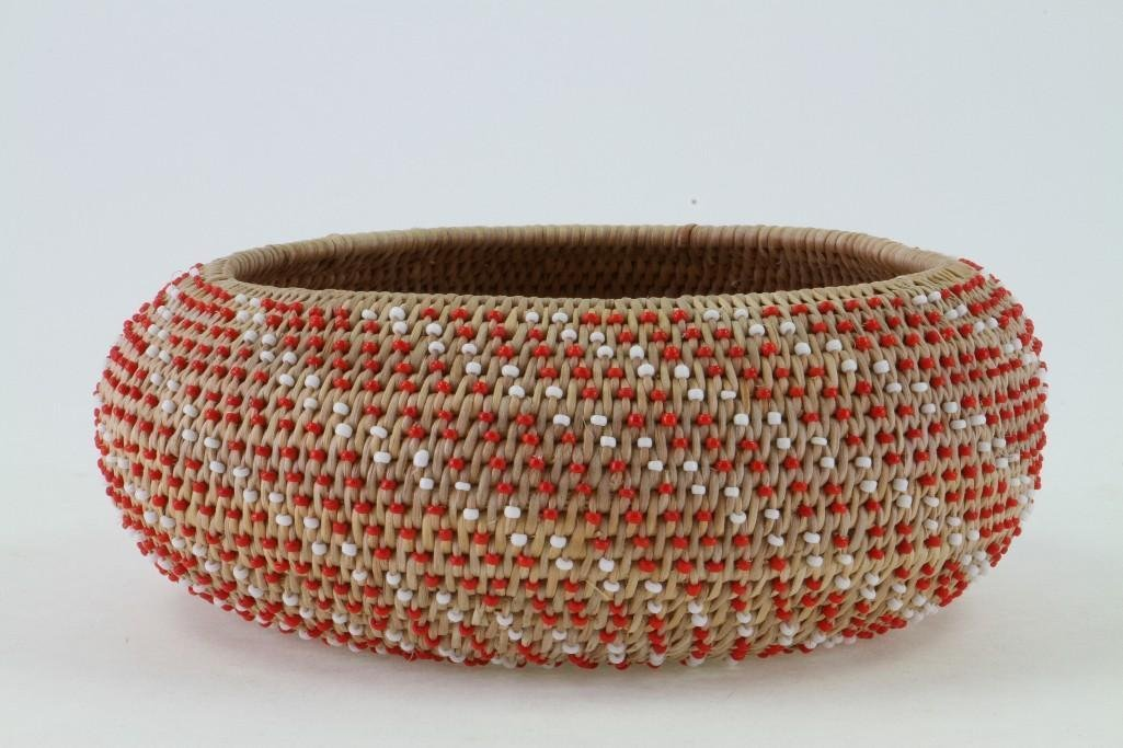 Pomo beaded basket