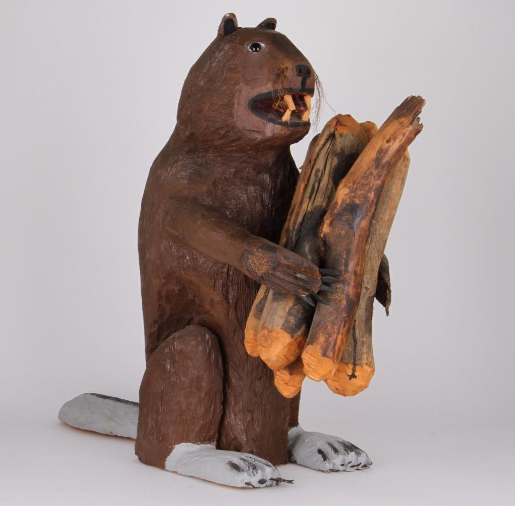 New Mexican folk art carving of a beaver - 2