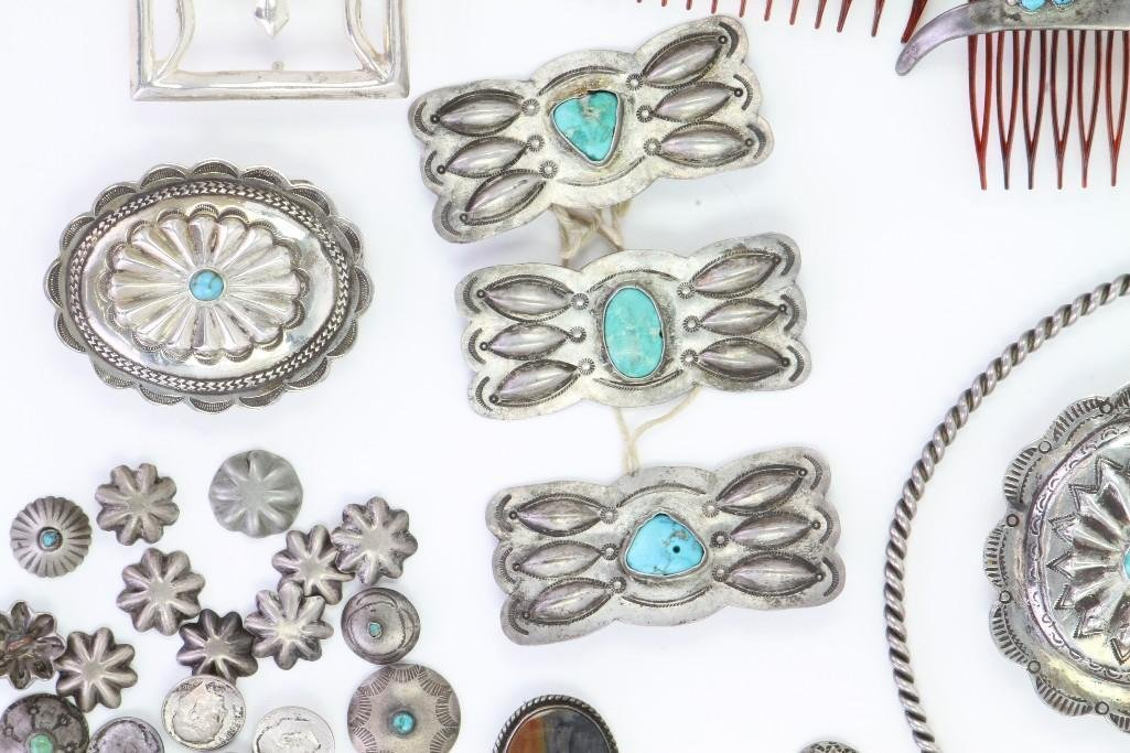 Collection of Navajo jewelry items - 3