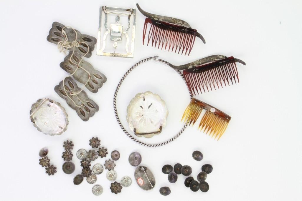 Collection of Navajo jewelry items - 7