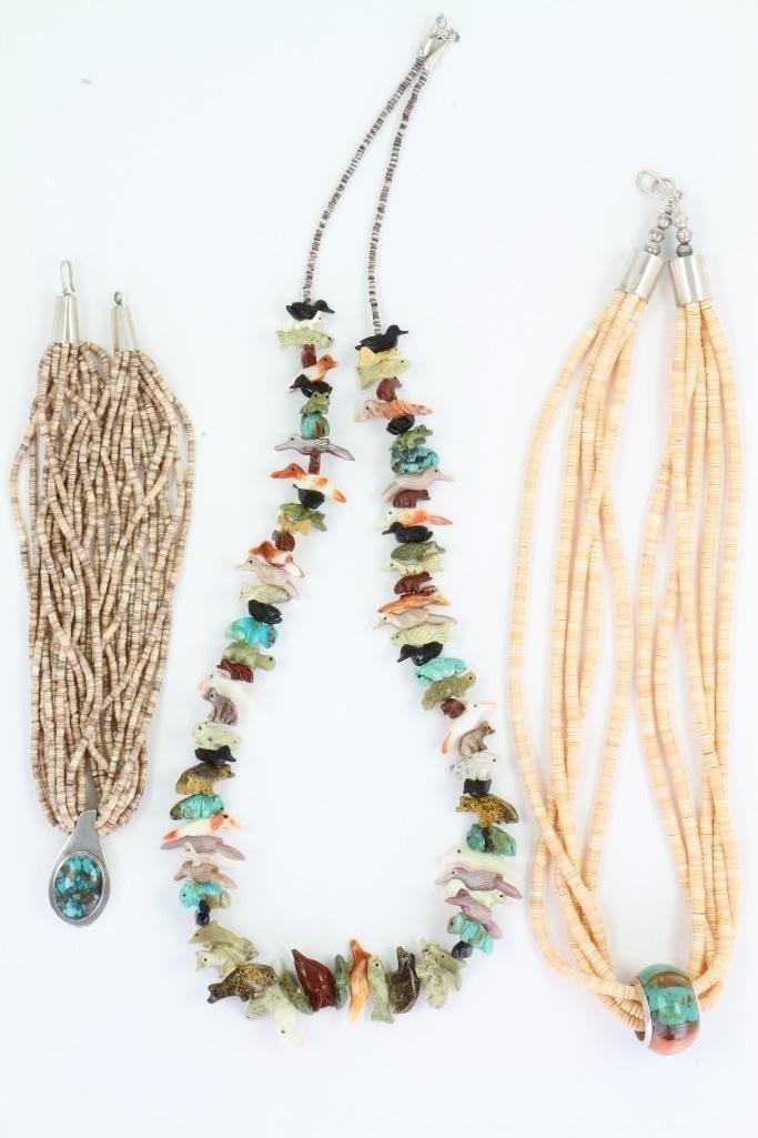 Three Santo Domingo necklaces