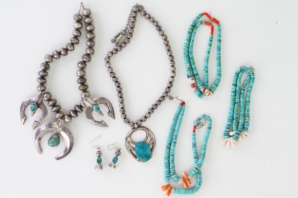 Six Navajo jewelry items - 3
