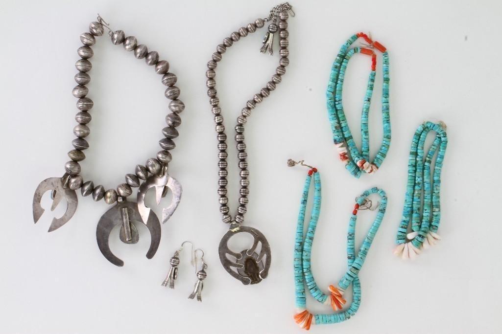 Six Navajo jewelry items - 4