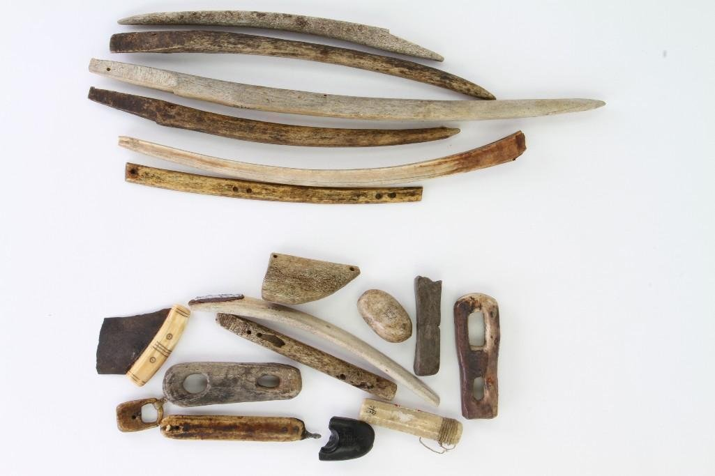 Collection of historic Eskimo tools and artifacts - 2
