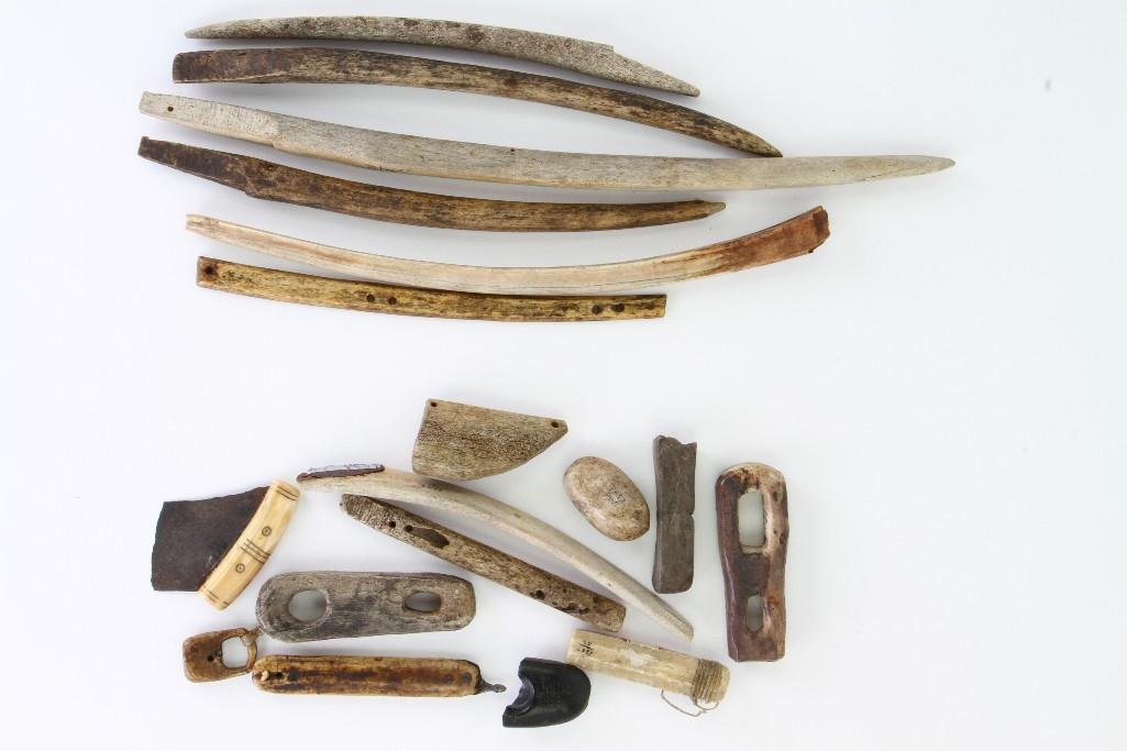 Collection of historic Eskimo tools and artifacts - 3