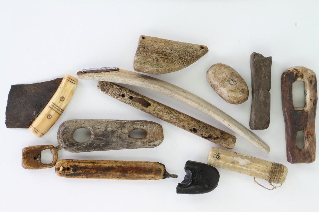 Collection of historic Eskimo tools and artifacts - 6