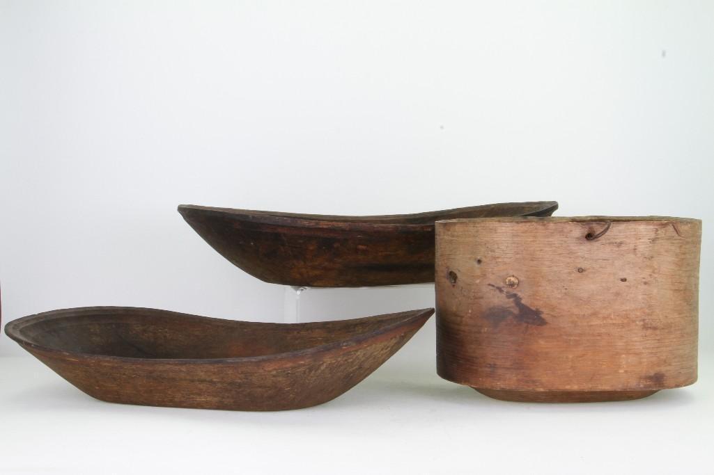 Three historic Eskimo vessels