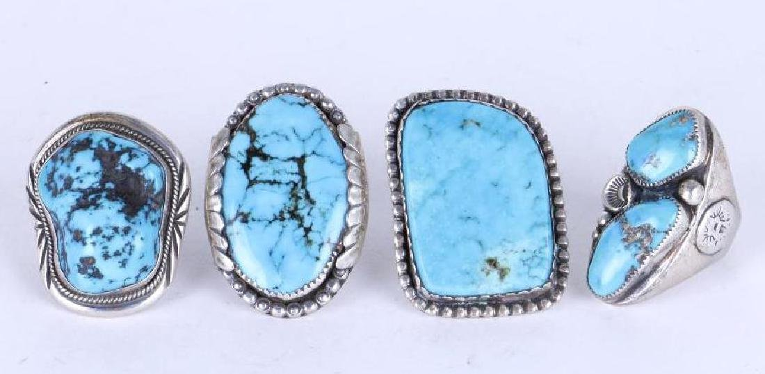 SOUTHWEST TURQUOISE SILVER RINGS