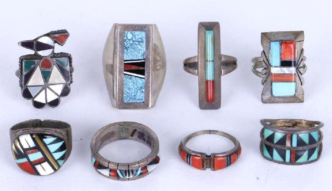 SOUTHWEST MULTI-STONE SILVER RINGS