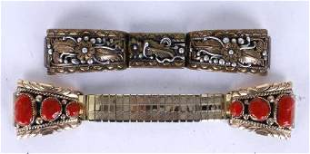 SOUTHWEST GOLD  STERLING WATCH BANDS