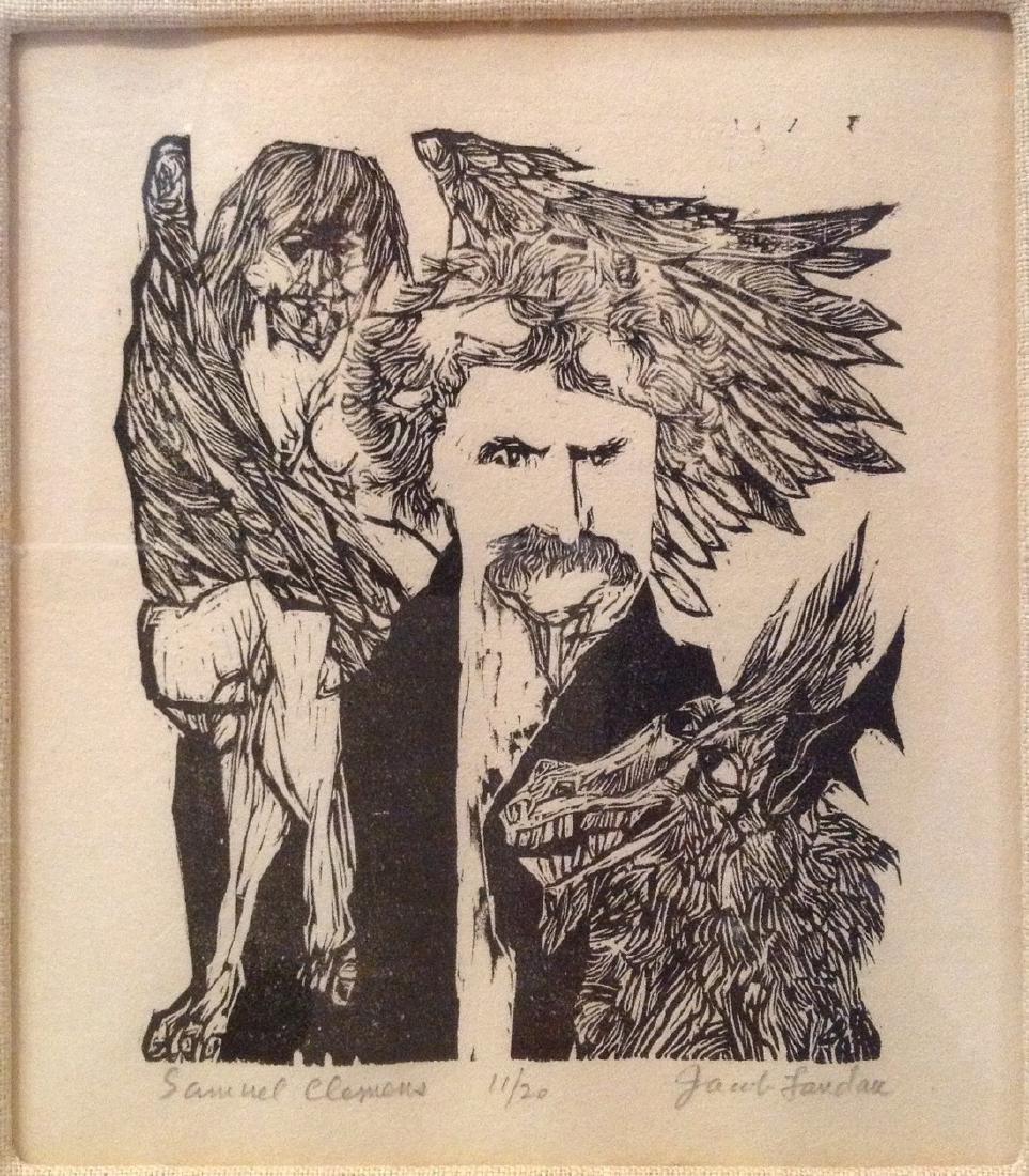 Jacob Landau ( 1917-2001)  Woodcut