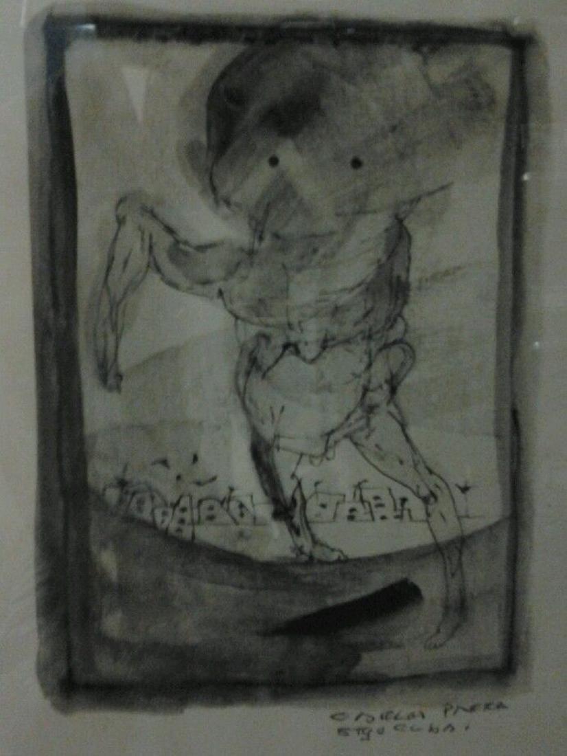 Carlos Pinera -Cuban- Mix Media Painting