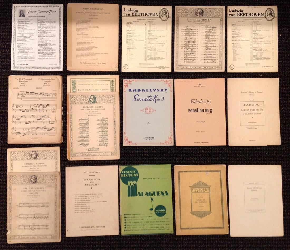 Vintage Sheet Music - Piano - Over 37 works - 3