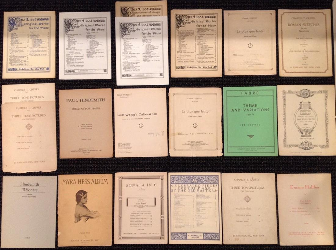 Vintage Sheet Music - Piano - Over 45 works