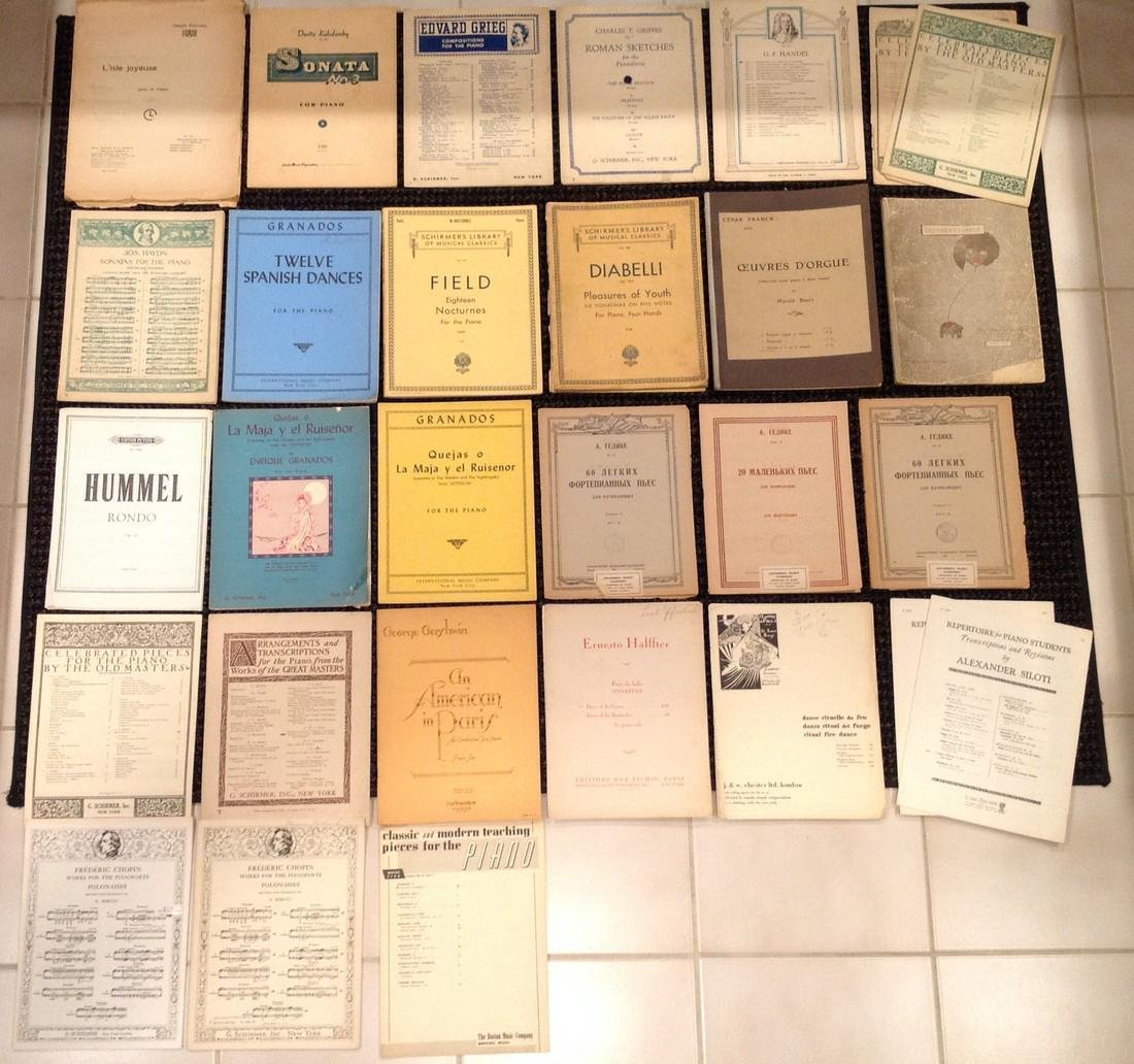 Vintage Sheet Music - Piano - Over 45 works - 2