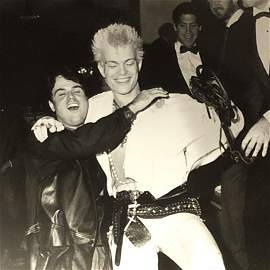 Billy Idol and Donny Osmond at the Beverly Wilshire