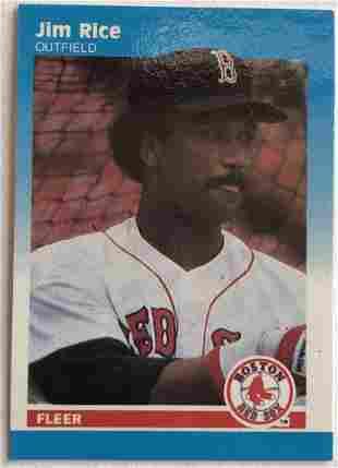 Jim Rice Fleer 89 Mini Card