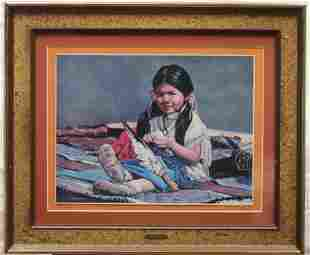 Framed Little Indian Girl157 Print By George E