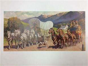 Walter Haskell Hinton Western Print