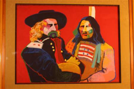 Custer & Crazy Horse by Malcolm Furlow
