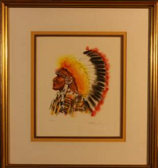Plains Indian Chief by Steve Lang