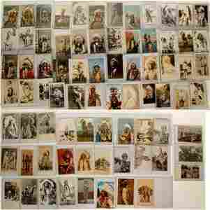 Postcards of Indian Chiefs and Warriors RPCs and
