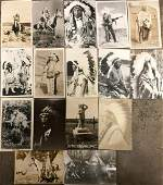 Photo Postcards of Native American Chiefs (Lot of 16)
