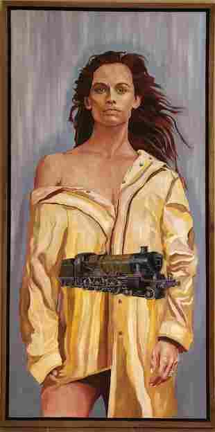 Christopher Rote - Oil Painting Jennifer Garner
