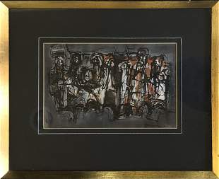 Jorgensen - mid century watercolor