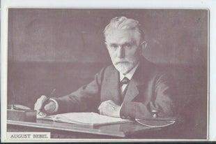 Early 20th Century Postcard of August Bebel
