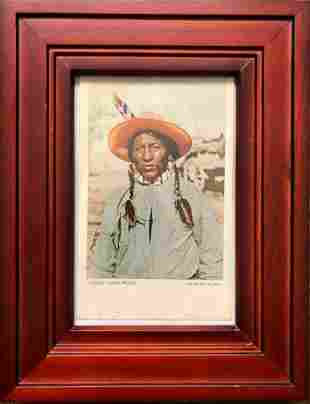 """Framed Postcard of """"Chief Lone Wolf"""""""