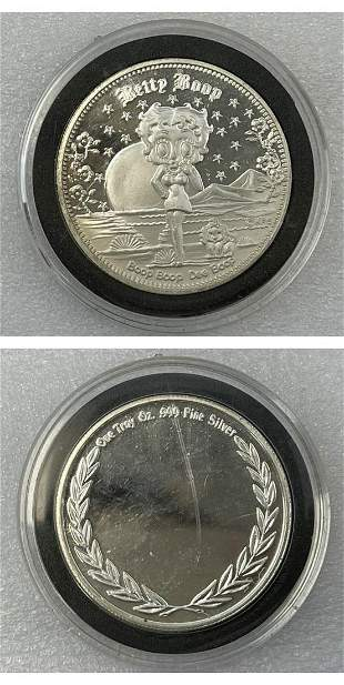 Betty Boop Silver Coin