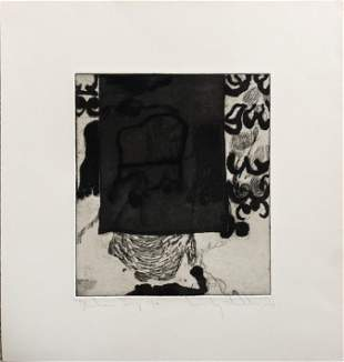 Wesley Chamberlain (1932-1990) Etching- Mid Century