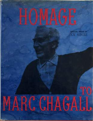 Homage to Marc Chagall Book with Lithograph