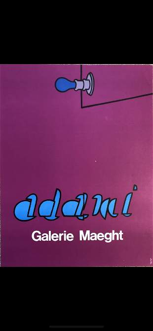 Valerio Adami - Galerie Maeght lithograph c 1965