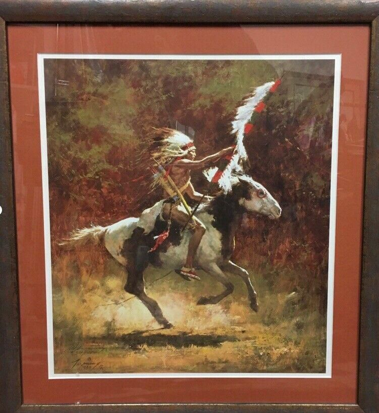 Sioux Flag Carrier by Howard Terping