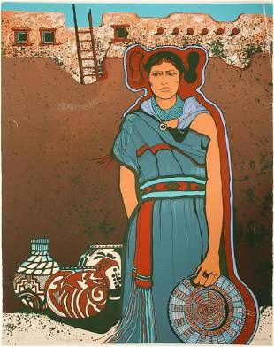 Hopi Maiden Serigraph by Julie Lee Allen