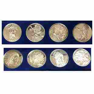 8 Silver rounds of Chiefs and warriors