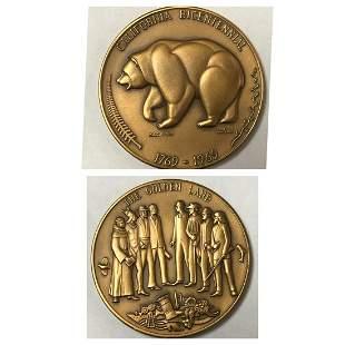 California Bicentennial Medallion, Set of 3